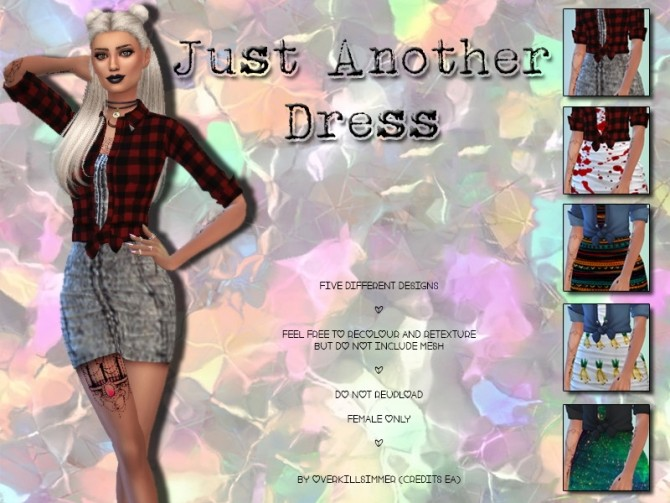 Sims 4 Just Another Dress by OverkillSimmer at SimsWorkshop