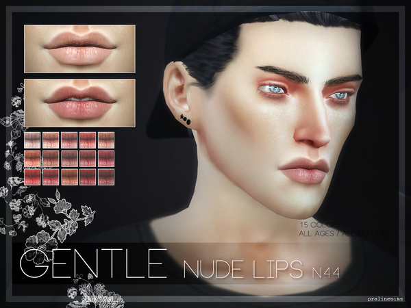 Sims 4 GENTLE Lips N44 by Pralinesims at TSR
