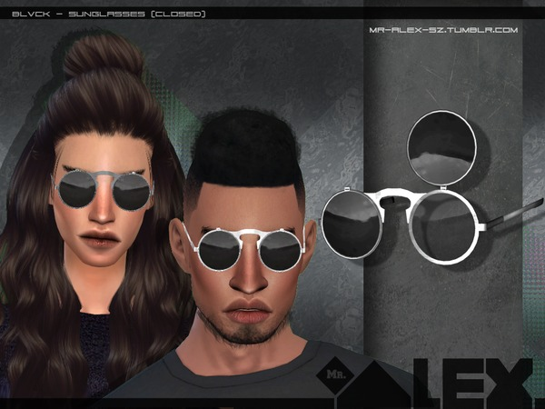 Blvck sunglasses (two versions) by Mr.Alex at TSR image 4106 Sims 4 Updates