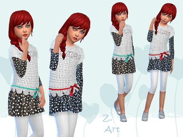 Sims 4 Trendy Girl outfit by Zuckerschnute20 at TSR