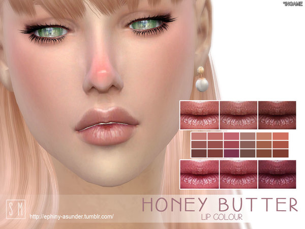 Sims 4 Honey Butter Lip Colour by Screaming Mustard at TSR