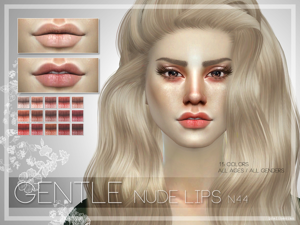 GENTLE Lips N44 by Pralinesims at TSR image 42 Sims 4 Updates