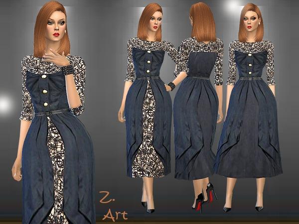 Sims 4 Ladyship dress by Zuckerschnute20 at TSR