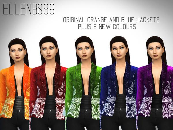 Sims 4 Veronica (Velvet Jacket) version 2 by Elleb096 at TSR