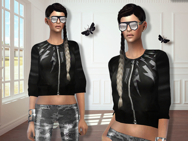 Sims 4 MFS Amber Jacket by MissFortune at TSR