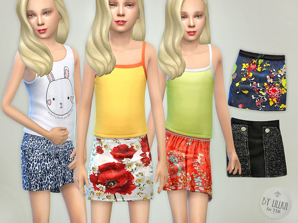 Sims 4 Skirts Collection 02 by lillka at TSR
