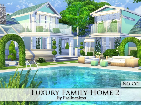 Sims 4 Luxury Family Home 2 by Pralinesims at TSR