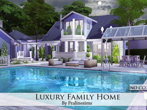 Luxury Family Home By Pralinesims At Tsr 187 Sims 4 Updates