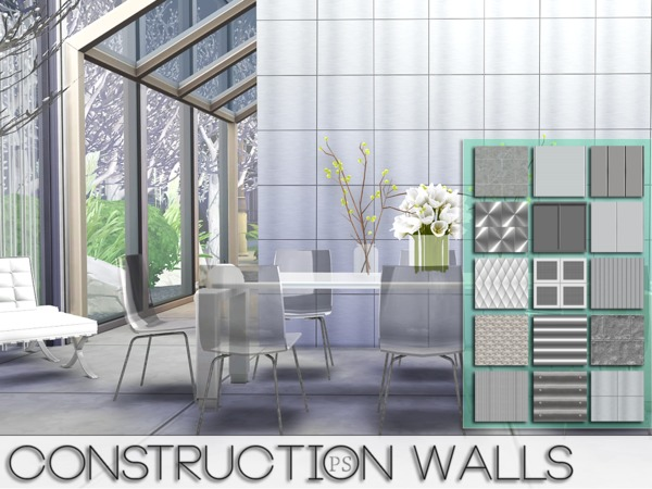 Construction Walls by Pralinesims at TSR image 5016 Sims 4 Updates