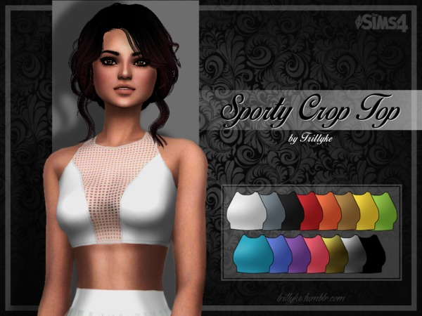 Sporty Crop Top by Trilly21 at TSR image 5102 Sims 4 Updates