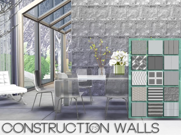 Construction Walls by Pralinesims at TSR image 5121 Sims 4 Updates