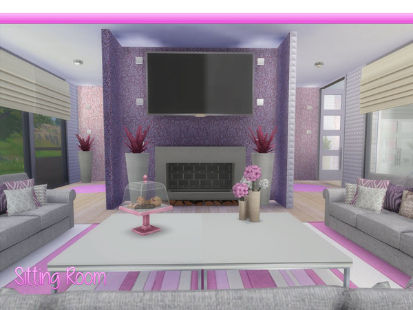 Sims 4 Lady in Pink house by lenabubbles82 at TSR