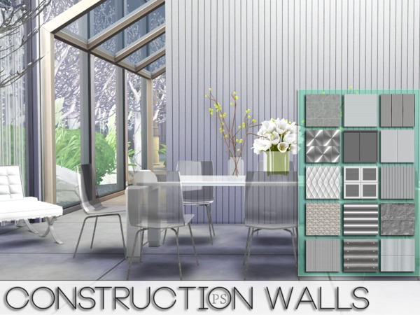 Construction Walls by Pralinesims at TSR image 5219 Sims 4 Updates