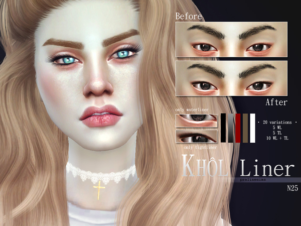 Sims 4 Khol Liner Kit N25 by Pralinesims at TSR