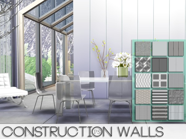 Construction Walls by Pralinesims at TSR image 5318 Sims 4 Updates
