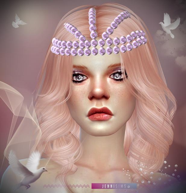 Sims 4 Pearl tiara and Teddybear headband at Jenni Sims