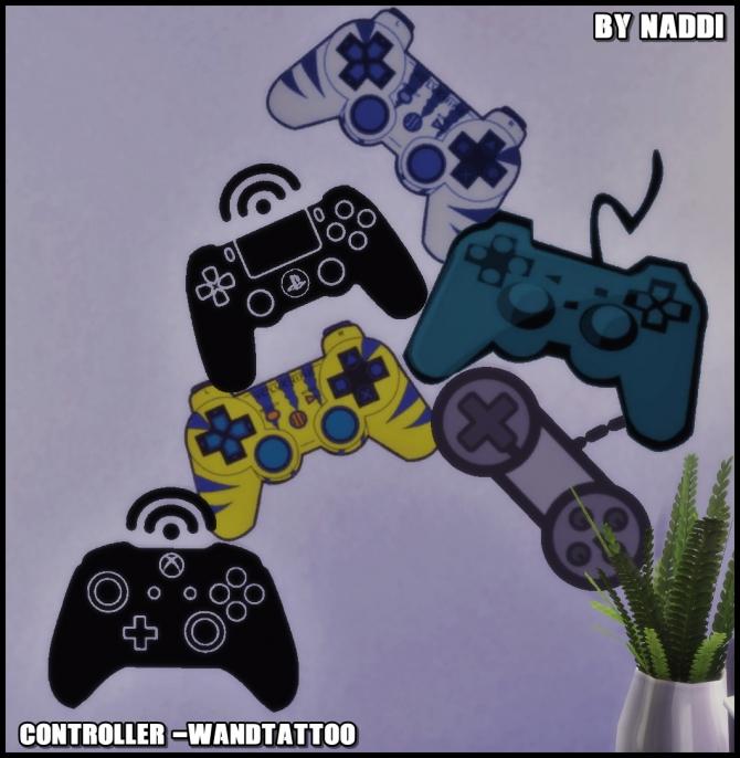 Gaming Controller Wall Decal At Naddi 187 Sims 4 Updates