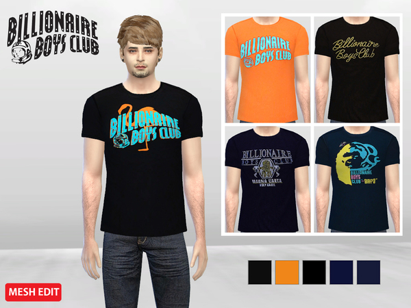 Simple BBC Crew Tees by McLayneSims at TSR image 558 Sims 4 Updates