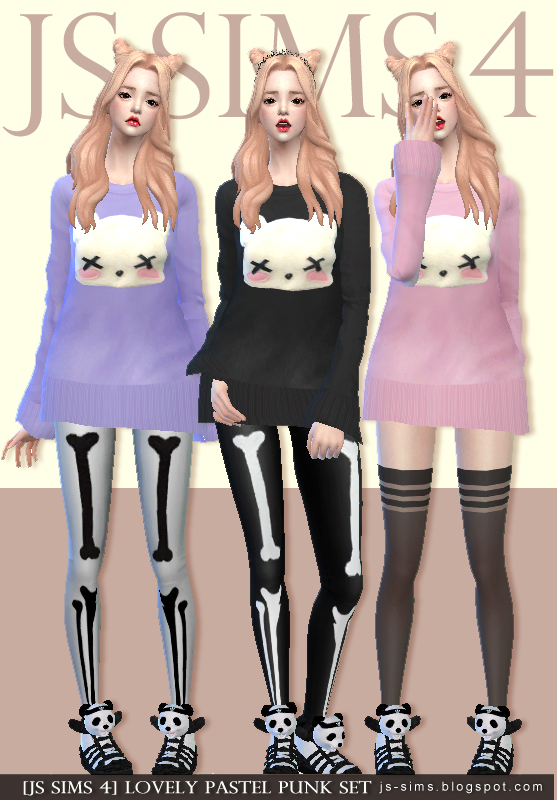 Lovely Pastel Punk Set at JS Sims 4 » Sims 4 Updates
