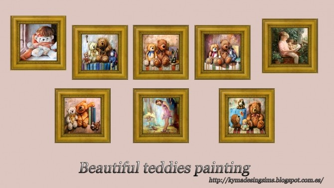 Painting Beautiful teddies at Kyma Desingsims S4 image 5917 670x377 Sims 4 Updates
