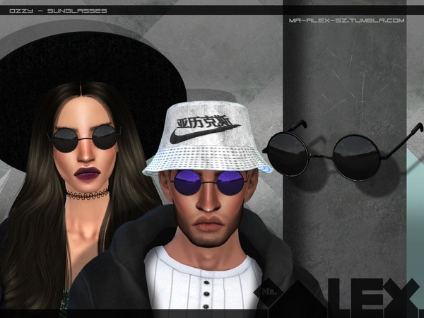 Sims 4 Ozzy sunglasses by Mr.Alex at TSR