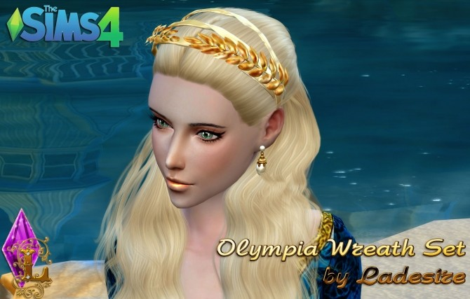 Olympia Wreath Set at Ladesire image 595 670x427 Sims 4 Updates