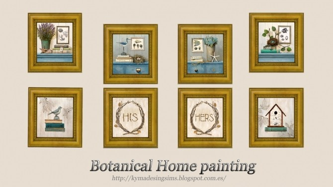 Botanical Home Paintings at Kyma Desingsims S4 image 599 670x377 Sims 4 Updates