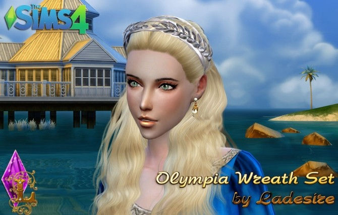 Sims 4 Olympia Wreath Set at Ladesire