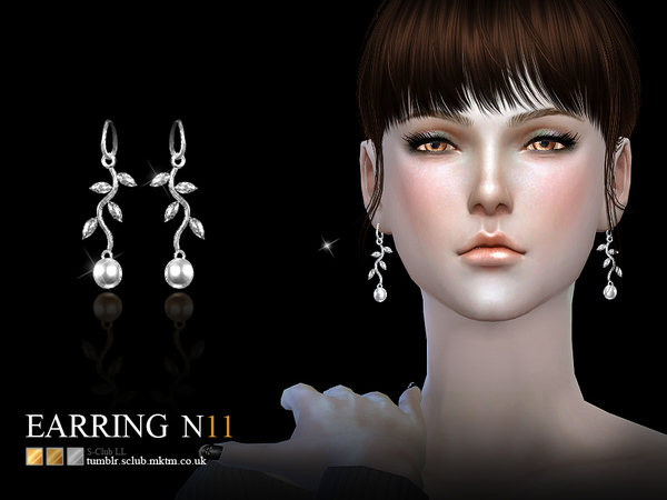 Sims 4 Earrings 11(f) by S Club LL at TSR