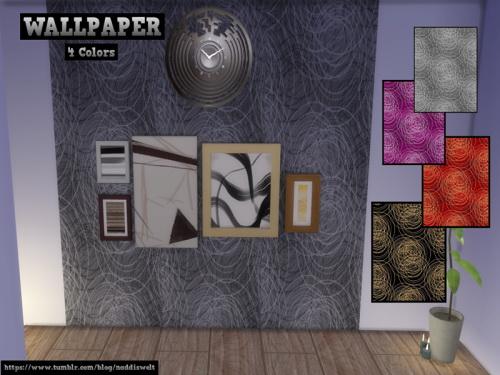 Sims 4 MODERN WALLPAPER SET at Naddi