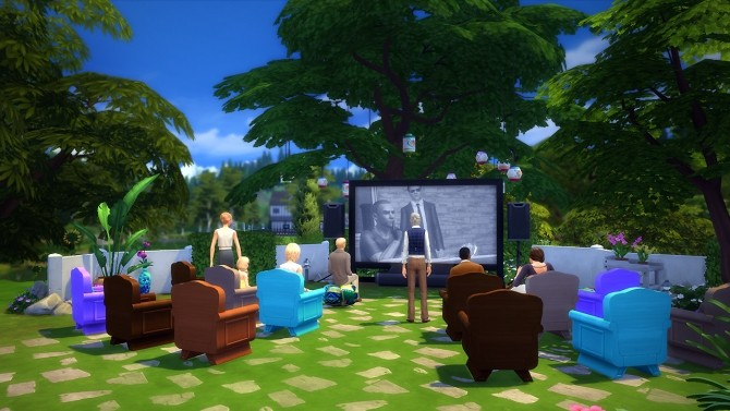 Sims 4 Derry cinema at Fezet's Corporation
