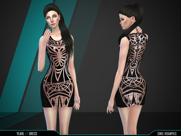 Yearl Dress by SIms4Krampus at TSR image 624 Sims 4 Updates