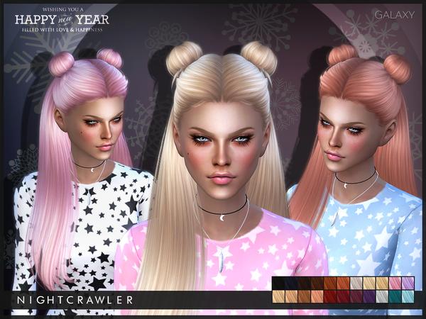 Sims 4 Galaxy hair by Nightcrawler at TSR