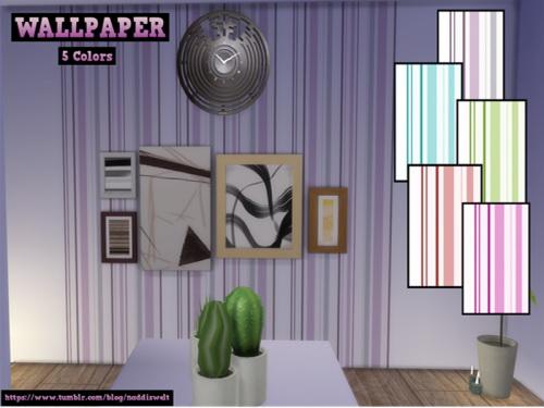 Sims 4 WALLPAPER SET 5 COLORS at Naddi