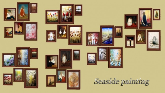 Sims 4 Seaside Paintings at Kyma Desingsims S4