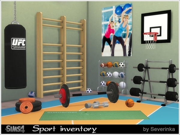 Sport inventory set by Severinka at TSR image 640 Sims 4 Updates