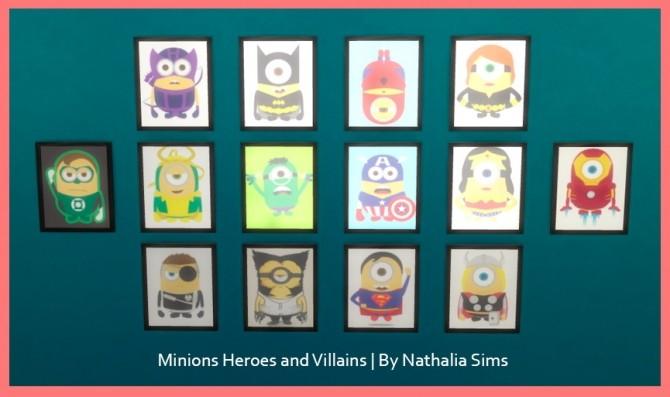 Minions Heroes and Villains Paintings at Nathalia Sims image 6417 670x397 Sims 4 Updates