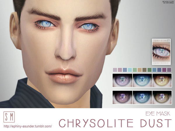 Sims 4 Chrysolite Dust Eye Mask by Screaming Mustard at TSR