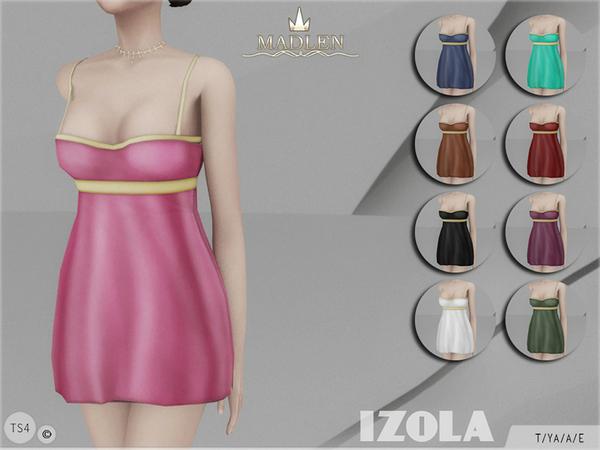 Sims 4 Madlen Izola Dress by MJ95 at TSR