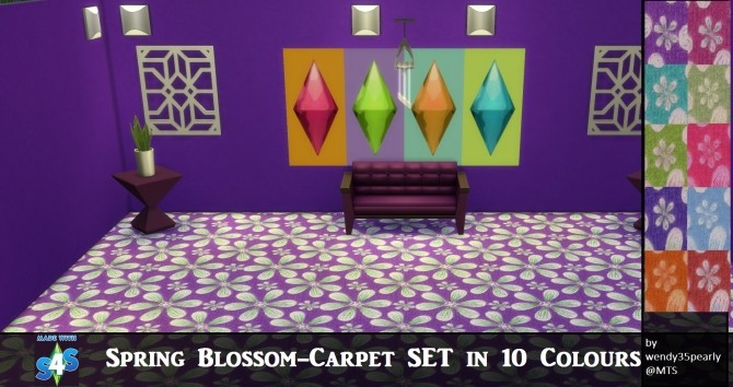 Spring Blossoms Carpets by wendy35pearly at Mod The Sims image 6820 670x354 Sims 4 Updates