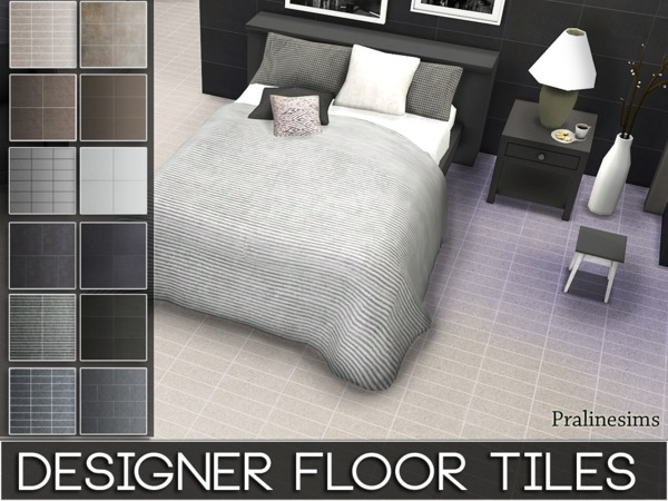 Sims 4 Designer Floor Tiles by Pralinesims at TSR