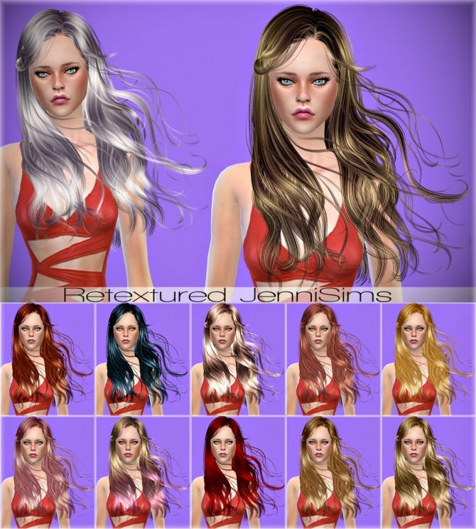 Newsea Athena Hair retexture at Jenni Sims image 690 670x744 Sims 4 Updates