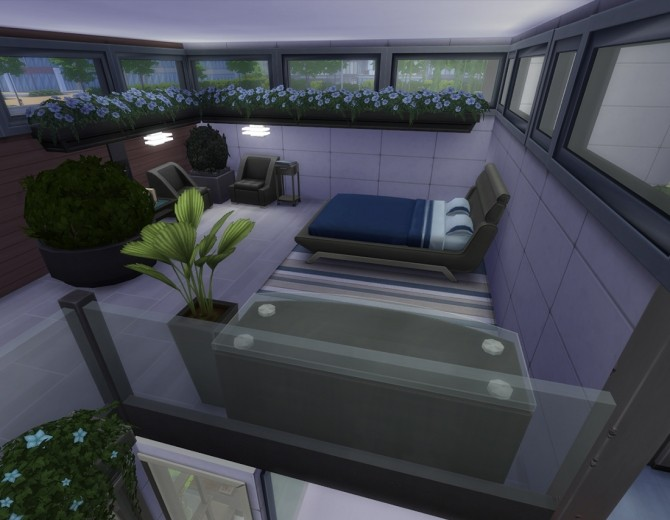 Sims 4 Garden Dioxide house by Alrunia at Mod The Sims