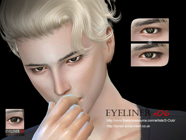 Sims 4 Eyeliner 06 by S Club WM at TSR