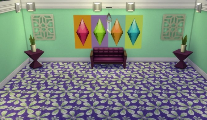 Spring Blossoms Carpets by wendy35pearly at Mod The Sims image 7019 670x389 Sims 4 Updates