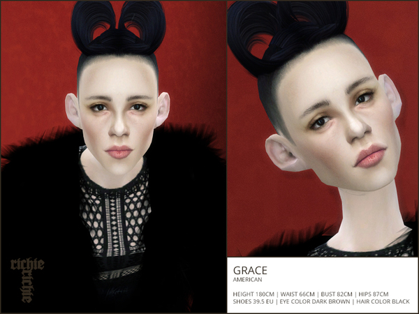 Sims 4 Grace by richie richie t at TSR