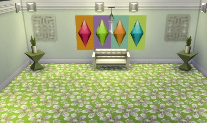 Spring Blossoms Carpets by wendy35pearly at Mod The Sims image 7123 670x398 Sims 4 Updates
