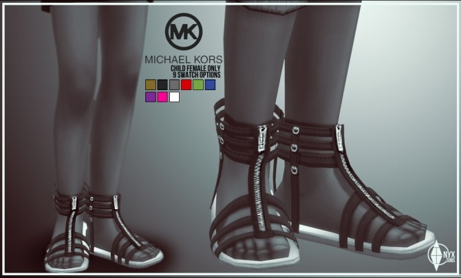 Sims 4 Sandals for girls at Onyx Sims