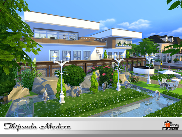 Thipsuda Modern house by autaki at TSR image 727 Sims 4 Updates