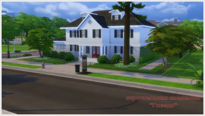 Sims 4 Goodwin frame house and yard at Sims by Mulena